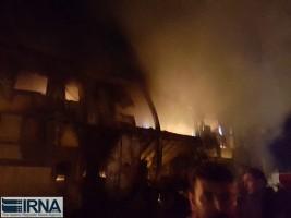 کارخانه کاله در کربلا در آتش سوخت