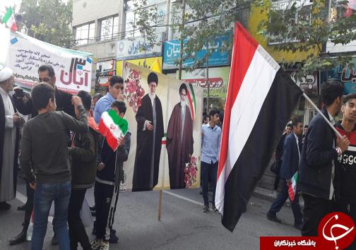 راهپیمایی باشکوه ۱۳ آبان در شهرهای مازندران برگزار شد + تصاویر