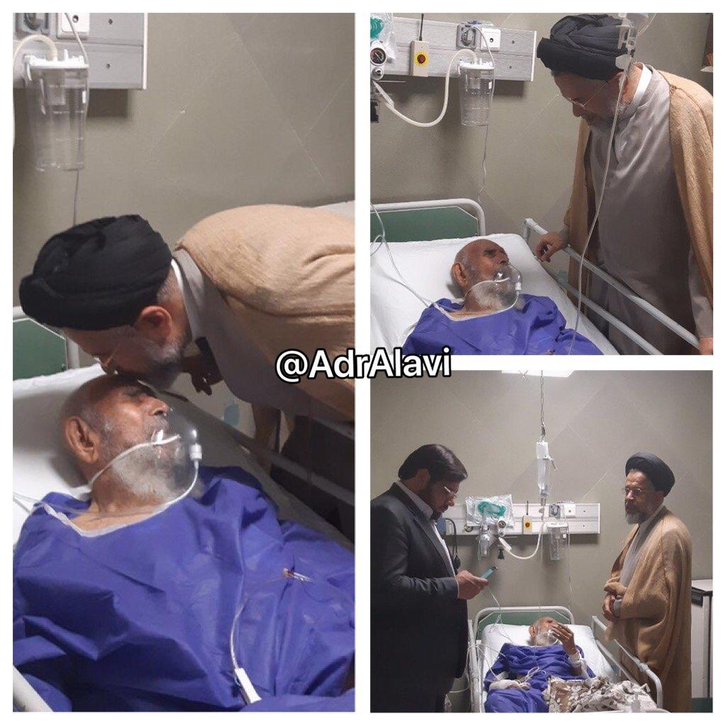 عیادت وزیر اطلاعات از پدرش در بیمارستان + عکس