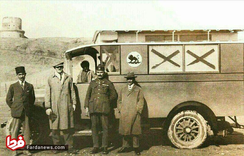 عکس: اولین آمبولانس در ایران سال ۱۳۰۶