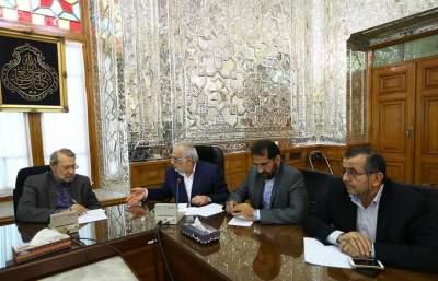 جلسه استاندار و مجمع نمایندگان مازندران با دکتر علی لاریجانی رئیس مجلس شورای اسلامی
