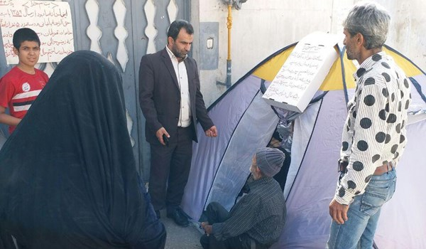 آوارگی و چادر نشینی خانوادهای در مرکز شهر ساری + تصاویر