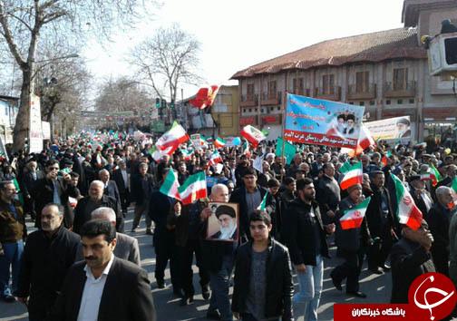 آغاز حماسه همدلی و اقتدار ملی مردم طبرستان در راهپیمایی ۲۲ بهمن ۹۶ +تصاویر