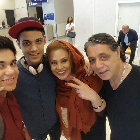 سفر بازیگر زن ایرانی به آمریکا برای دیدار با همسر +عکس