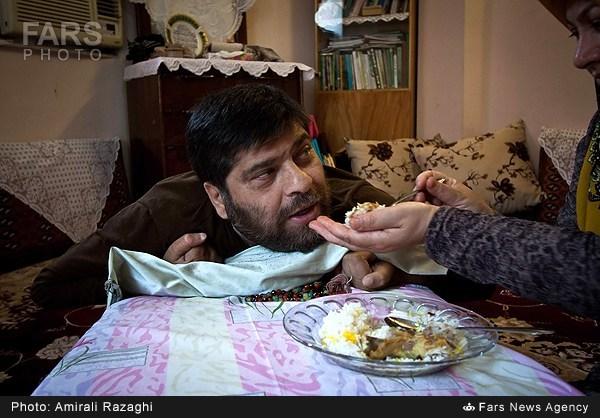 نتیجه تصویری برای شهید سید حسین آملی جانباز