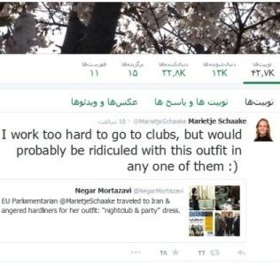 واکنش نماینده زن اروپایی به اظهارات بروجردی