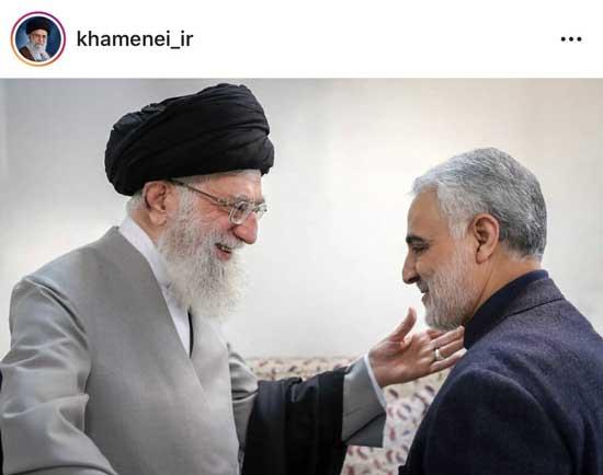 تصویر اینستاگرام رهبری درباره سردار سلیمانی