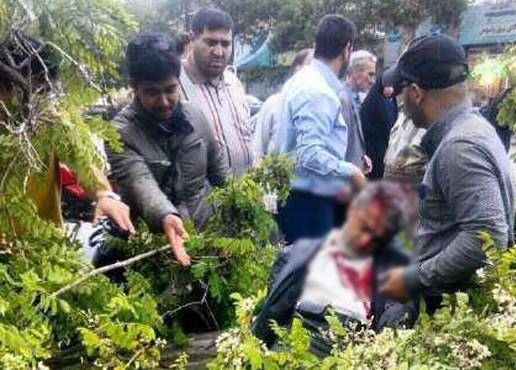 سقوط مرگبار تیر برق بر روی عزاداران در بهشهر