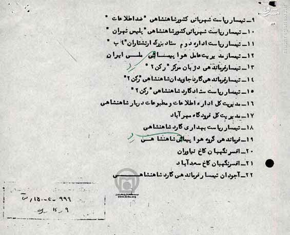 نام مستعار شاه در اسناد ساواک چه بود؟ +سند