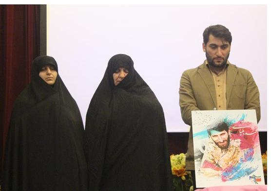 رونمایی از تمبر شهید مدافع حرم + تصاویر