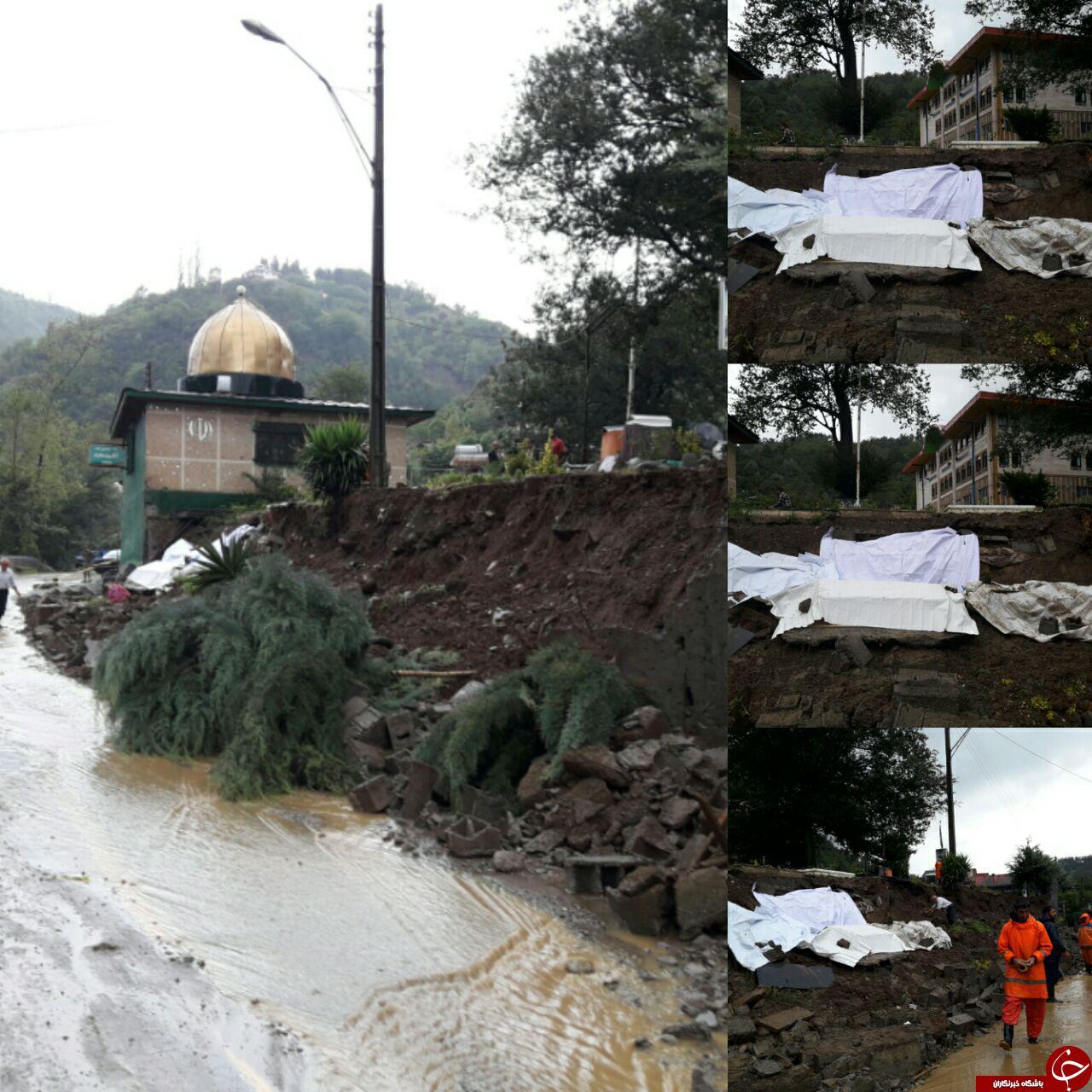 وقوع سیلاب و بیرون آمدن مرده ها از قبر در رامسر+ تصاویر