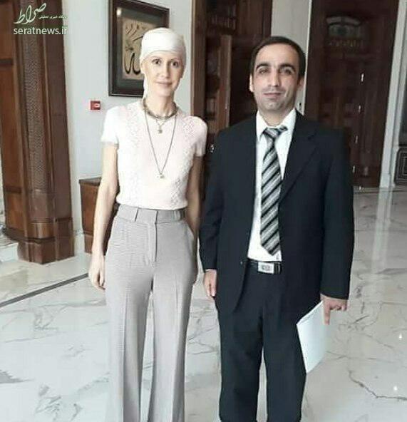 عکس/ همسر بشار اسد پس از شیمی درمانی