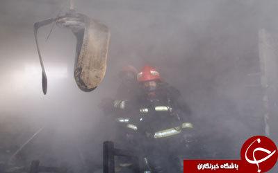 مهار آتش در مغازه خیاطی + تصاویر