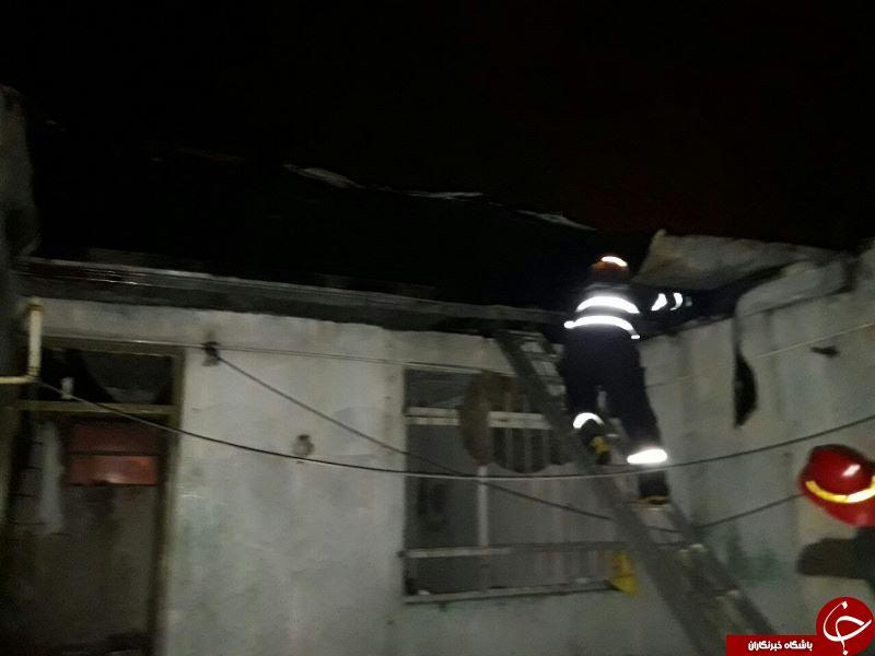 آتش به جان منزل مسكونی + تصاویر