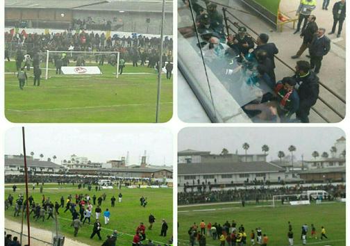 اتفاقات ناخوشایند در ورزشگاه هفت تیر بابل + تصاویر