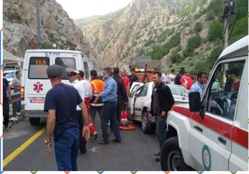 تصادف در جاده سوادکوه حادثه آفرید