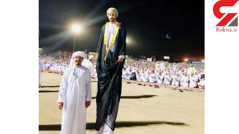 عکس باورنکردنی از قد بلندترین مرد جهان در مراسم حج