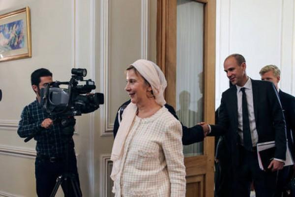 عکس/ حجاب مهمان سوئدی در دیدار با ظریف