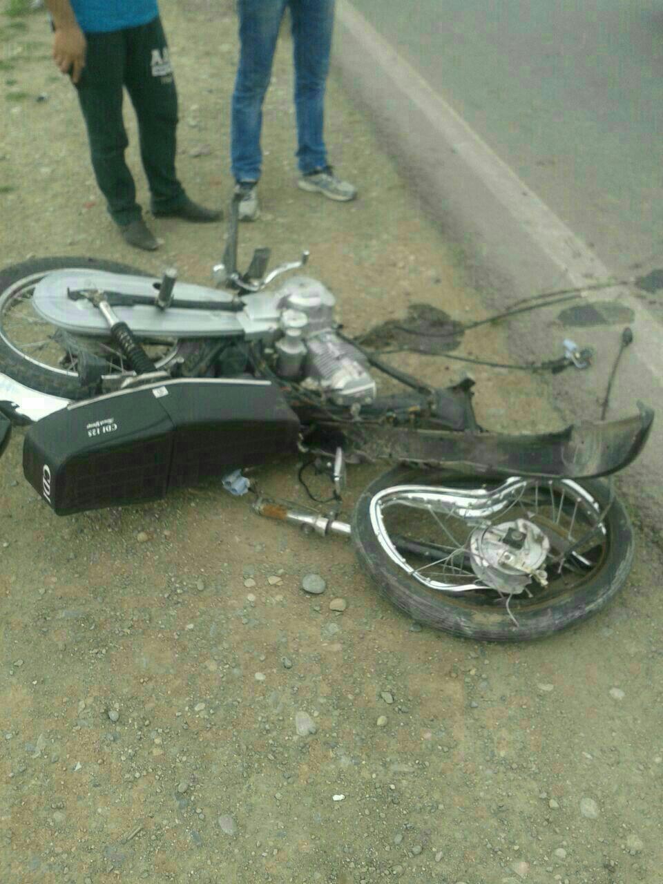 مرگ پسر جوان در یک تصادف+ تصاویر